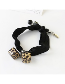 Fashion Brown Leopard Print Decorated Hair Band