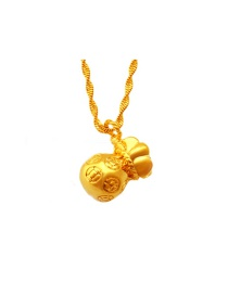 Lovely Gold Color Purse Shape Pendant Decorated Simple Pendant (not Including Chain )