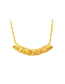 Fashion Gold Color Hollow Out Design Pure Color Decorated Simple Pendant (not Including Chain )