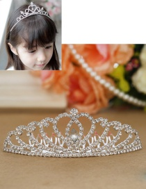 Lovely Silver Color Crown Decorated Pure Color Simple Hair Hoop