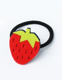 Lovely Red Strawberry Decorated Pure Color Hair Band