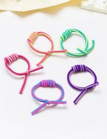 Lovely Multi-color Color Matching Decorated Knot Design Hair Band (5pcs)