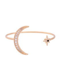 Fashion Gold Color Moon&star Decorated Pure Color Bracelet