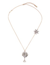 Fashion Gold Color Star Pendant Decorated Long Necklace