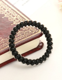 Lovely Black Pure Color Decorated Simple Hair Band