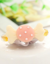 Lovely Beige Candy Decorated Pure Color Hairpin