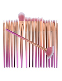 Fashion Pink Color Matching Decorated Mermaid Makeup Brush(20pcs)