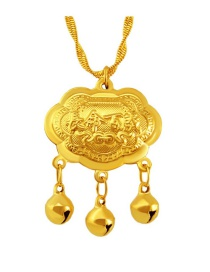 Fashion Gold Color Bells Decorated Pure Color Simpe Pendant( Without Chain)