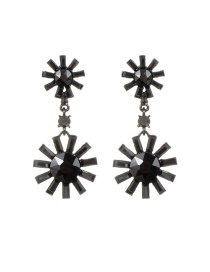Fashion Gun Black Sun Shape Decorated Pure Color Earrings