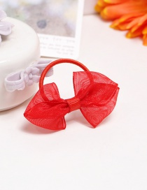 Fashion Red Bowknot Shape Decorated Pure Color Hair Rope