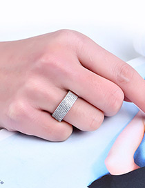 Fashion Silver Color Pure Color Decorated Multi-layer Simple Ring