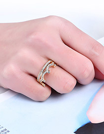 Fashion Gold Color Crown Shape Decorated Pure Color Ring