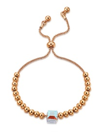 Fashion Gold Color Round Ball Decorated Pure Color Bracelet