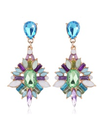Vintage Multi-color Geometric Shape Shape Decorated Earrings