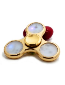 Fashion Gold Color Color-matching Decorated Spinner(with Light)
