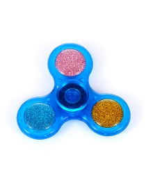 Fashion Blue Paillette Decorated Triangel Shape Spinner