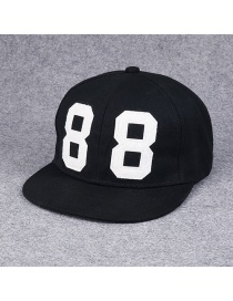 Fashion Black Letter 8 Pattern Decorated Simple Hip-hop Cap