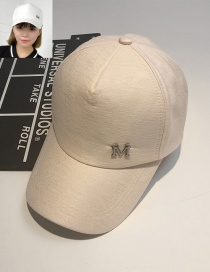 Fashion Khaki Letter M Pattern Decorated Pure Color Cap