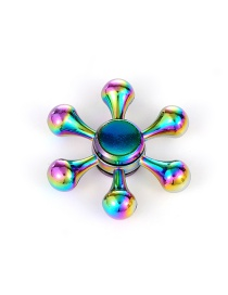 Trendy Multi-color Rudder Shape Decorated Simple Spinner