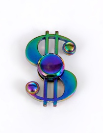 Trendy Multi-color Musical Mark Shape Decorated Simple Spinner