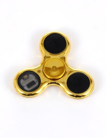 Trendy Gold Color Triangle Shape Decorated Flash Spinner