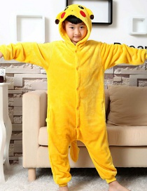 Fashion  Pikachu Shape Decorated Pure Color Nightgown