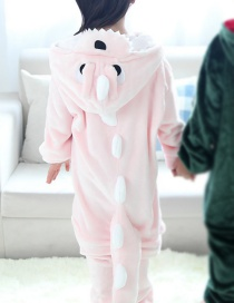 Fashion Pink Dinosaur Shape Decorated Simple Chid Nightgown