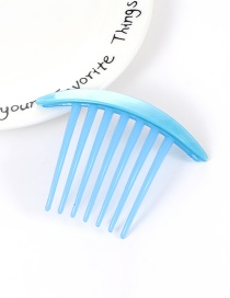 Fashion Blue Pure Color Decorated Simple Hair Comb