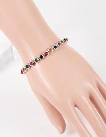Fashion  Diamond Decorated Color Matching Bracelet