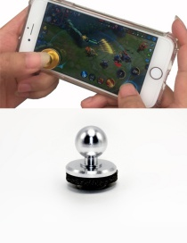 Fashion Silver Color Ball Shape Decorated Pure Color Simple Joystick