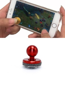 Fashion Red Ball Shape Decorated Pure Color Simple Joystick
