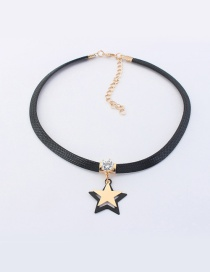 Elegant Champagne Star Decorated Color Matching Simple Choker