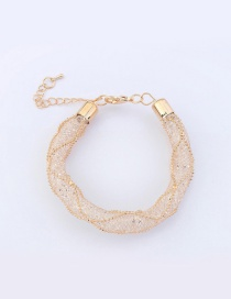 Fashion Champagne Round Ball Decorated Pure Color Necklace